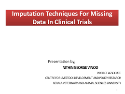 imputation techniques for missing data in clinical trials