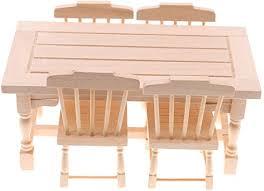 p prettyia 1 12 puppenhaus esszimmer möbel miniatur esstisch stühle puppenstubenmöbel