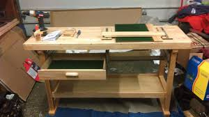 the vulgar curmudgeon harbor freight wooden workbench build and