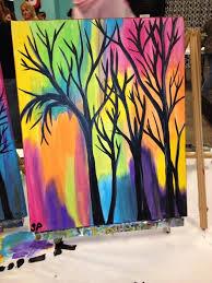 Painting Simple Paintings Tree Canvas Art