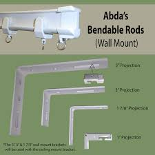 Double Traverse Curtain Rod Center Open by Blog Bendable Rods