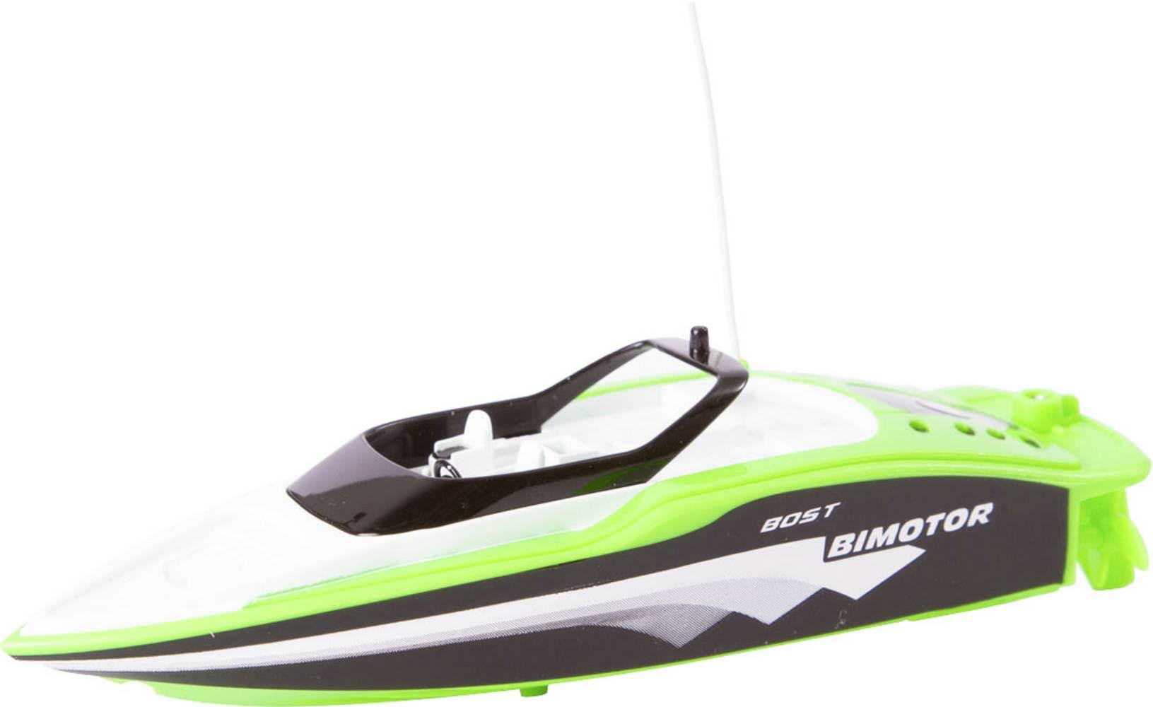 Invento Mini Speed Boat 'Green' RC Model Speedboat for Beginners RTR 150 mm