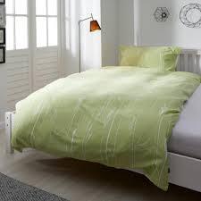 satin bettwäsche nordic 135x200 grün weiß