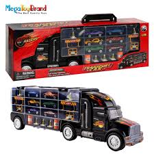 MegaToyBrand Hauler Transporter Car Carrier Truck Toy With 6 Cars ... Prtex 60cm Detachable Carrier Truck Toy Car Transporter With Product Nr15213 143 Kenworth W900 Double Auto 79 Other Toys Melissa Doug Mickey Mouse Clubhouse Mega Racecar Aaa What Shop Costway Portable Container 8 Pcs Alloy Hot Mini Rc Race 124 Remote Control Semi Set Wooden Helicopters And Megatoybrand Dinosaurs Transport With Dinosaur Amazing Figt Kids 6 Cars Wvol For Boys Includes Cars Ar Transporters Toys Green Gtccrb1237