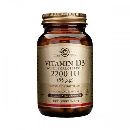 Solgar Vitamin D3 - 2,200 IU, 50 Vegetable Capsules