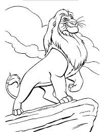Lion King Amazing Mufasa The Colouring Page