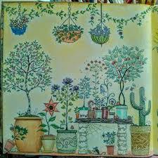 SG Potted Plants ColouringColoring BooksPotted PlantsSecret GardensVintage