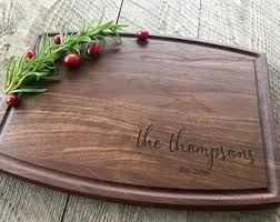 Custom Cutting Board Personalized Engraved Christmas Gift Wedding
