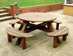 8 seater round garden picnic table ideas for the house