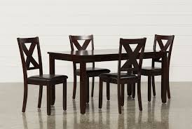 Wayfair Dining Room Side Chairs by Dakota 5 Piece Dining Table W Side Chairs Living Spaces