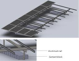 concrete flat roof solar system for installation of solar panel