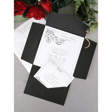 Simple Black And White Wedding Invitation Card