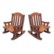 Amazon.com: Brosco 2pcs Vintage Wooden Rocking Chair Model For 1:12 ... Sold Antique Mission Style Rocking Chair Refinished Maple And Leather Adams Northwest Estate Sales Auctions Lot 12 Vintage Wood Mini Rocker 3 Vintage Wood Carved Rocking Chairs Incl 1 Duck Design Seat Tell City Company Love Seat Projects In Childs Wooden Refurbished Autentico Bright White Victorian W Upholstered Back Wooden Chair Ldon For 4000 Sale Shpock With Patchwork Design On Backrest Batley West Yorkshire Gumtree Child Doll Red Checked Fabric
