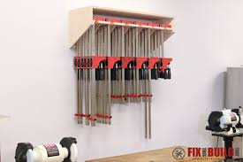 how to build a clamp rack woodworking shop organization and craft