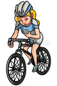 Woman Checking Phone While Riding Bike