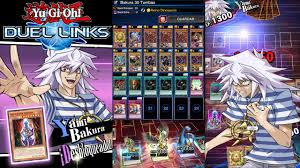 yugioh bakura character deck farm bakura lvl 30 vasallo deck yu gi oh duel links