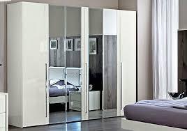 kleiderschrank schlafzimmer schrank weiß spiegeltüren