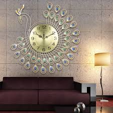 Order Stick On Wall Clock DIY Large Modern Design Decal 3D