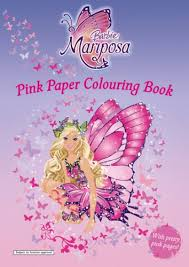 Barbie Mariposa And Her Butterfly Fairy Friends Pink Paper Coloring Book