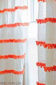 White Kitchen Curtains With Red Trim by Looking To Transform Your Plain White Curtains Give Them A Style