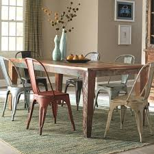 Rustic Dining Chairs Room Sets With Rectangular Wooden Table And Metal Chair