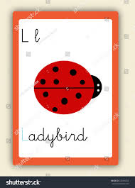 Abc Card Letter L Word Picture Stock Vector Shutterstock