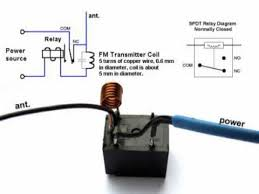 DIY Home made TV Radio Jammer with SPDT Relay Schematic Circuit Diagram