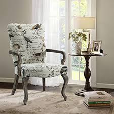 amazon com arnau goose neck arm chair ivory multi see below