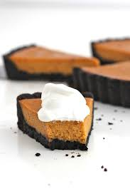 Healthy Chocolate Pumpkin Desserts by Dark Chocolate Pumpkin Tart The Bakermama