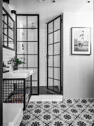 awesome bathroom white floor tiles black tile hexagon designs