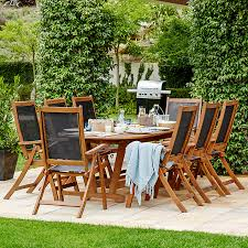 John Lewis This FSC Certified Eucalyptus Table And Chair Set Has A Real Modern Dining Feel Big Enough To Seat Family Or Lay Out Buffet Picnic Style