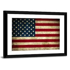 Rustic American Flag Multi Panel Canvas Wall Art