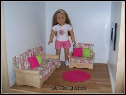 Barbie Living Room Set by Gigi U0027s Doll And Craft Creations 18 Inch Doll Furniture For Living
