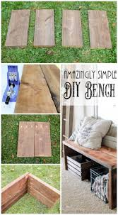 Build An Amazingly Simple Diy Bench With This Tutorial Use Reclaimed Wood For A Weathered Look The End Result Is Perfect Storage Solution