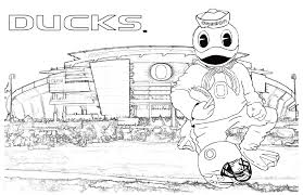 University Of Oregon Coloring Pages Inside Duck