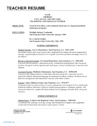 Example Of Application Letter For Teacher Applicant Objectives New Teaching Resume Cover Examples