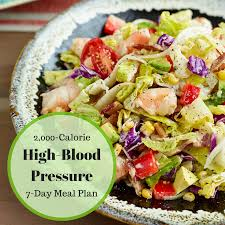 7 Day High Blood Pressure Meal Plan 2000 Calories