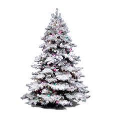 Pink Christmas Tree Flocking Spray by Amazon Com Vickerman Flocked Alaskan Tree With Dura Lit 100 Clear