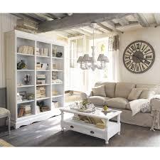 bibliothèque en bois de paulownia blanche l 160 cm joséphine