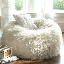 Fluffy Bean Bag Chairs Pink