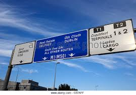 bureau de change dublin airport road sign dublin stock photos road sign dublin stock