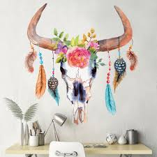 Ying Yang Twins Bedroom Boom Download by Bull Cow Skull Dreamcatcher Decal With Flowers And Feathers Cow