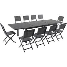 Cambridge Nova 11-Piece Aluminum Outdoor Dining Set With 10-Folding Sling  Chairs And 40 In. X 118 In. Expandable Dining Table Madison County Ding Table Set With Extension Tamilo Ding Room Chair Ashley Fniture Homestore Pin On Ding Tables And Chairs Most Regard Set Cushions Chairs Comfortable Wat Indoor Covers Black Modern Mhattan Comfort York 5piece Solid Wood With 1 Table 4 540 Area Tile Wooden Patings Decorative Giantex 5 Piece Upholstered Mid Century Apartment Linen Fabric Cushioned Seats Large Amazing Brie Hooker Hill Country