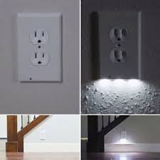wall outlet cover plate cover led lights hallway bathroom