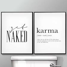 sie nackt karma poster und drucke wc leben zitat modulare wand kunst wand bilder für bad moderne home leinwand malerei