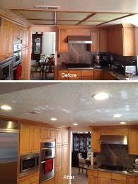Full Size Of Kitchen Ideasawesome Recessed Lighting For Soffit Flat Before After