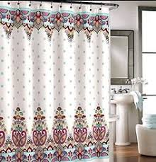 Cynthia Rowley New York Window Curtains by Cynthia Rowley Ischia Paisley Fabric Shower Curtain In Shades Of
