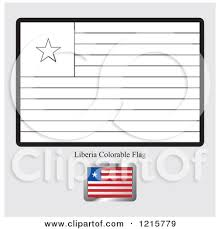 Clipart Of A Coloring Page And Sample For Liberia Flag