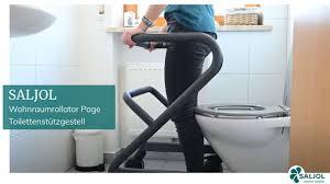 wohnraumrollator page als toilettenstützgestell
