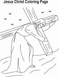 Jesus Christ Coloring Printable Page 3 For Kids